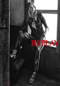 Anna Selezneva in Denim Looks for Replay Spring 2015 Campaign #annaselezneva   #replay   #fashion   http://www.bliqx.net/anna-selezneva-in-denim-looks-for-replay-spring-2015-campaign/
