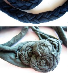 Rescue for a bad hair day: Headbands made of an old T-shirt