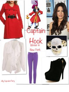 Captain Hook Winter In NewYork ❤ Disney Inspired Outfits