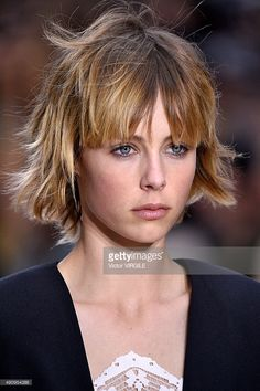 Edie Campbell walks the runway during the Chloe Ready to Wear show as part of the Paris Fashion Week Womenswear Spring/Summer 2016 on October 1, 2015 in Paris, France.