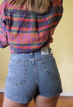 e65f27dd4200e Vintage Lee shorts. Vintage denim. Denim shorts. High waisted shorts. High  waisted. Depop