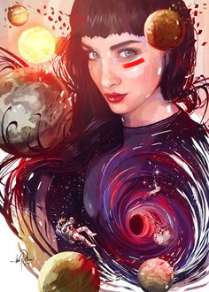 .ºLO AND THE COSMOSº. by Javier González Pacheco, via Behance