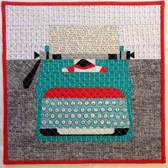 Typewriter Mini Quilt by Three Owls, via Flickr