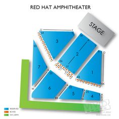 Red Hat Amphitheater Seating Chart Seats Hats Charts