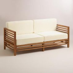 Wood Praiano Outdoor Occasional Bench | World Market