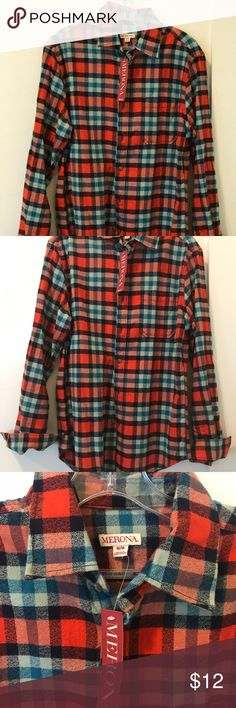 BNWT Men's Flannel Button Down Brand new men's button down! Never worn and still has tags. Excellent for fall! Merona Shirts Casual Button Down Shirts