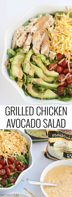 grilled chicken avacado salad, easy, healthy, simple, green, chicken, soup, salad, recipe, fast, vegetables, soup