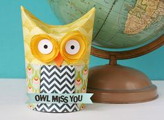 DIY owl gift box...this makes me smile :)
