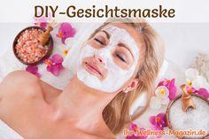 DIY-Kosmetik-Rezept für eine beruhigende Gesichtsmaske - ideal, wenn die Haut sensibel ist und rasch zu Rötungen, Entzündungen und Juckreiz neigt.
