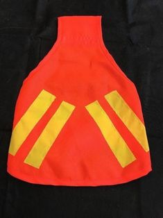 Dog Safety Jacket Pet Clothes Apparel Outfit Size M Bright Orange Strap Yellow #Unbranded