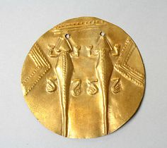 Pectoral Disk (Patena), gold. Panama, Veraguas (?) culture, 11th-16th century http://www.metmuseum.org/Collections/search-the-collections/50005587?rpp=60=84=on=*=Jewelry=5023