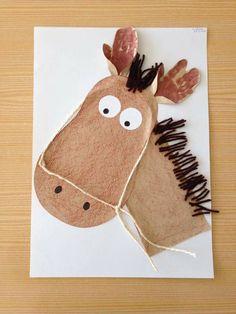 Burro Preschool Farm Crafts, Farm Animals Preschool, Preschool Art Projects, Craft Activities For Kids, Baby Crafts, Butterfly Room, Farm Quilt, Farm Art, Horse Crafts