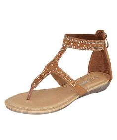 This Tan Rani Gladiator Sandal is perfect! #zulilyfinds
