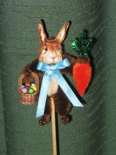 Vintage Victorian Style Chenille EASTER Rabbit by ClearBrookHollow, $5.95