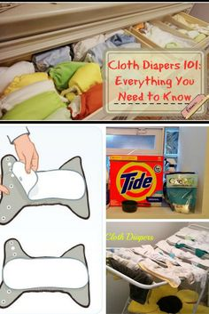 Cloth Diapers 101 : Cloth diapering for beginners - Everything you need to know! Different types of diapers, how to wash, how to store, how to dry, safe diaper rash creams, safe laundry detergents, etc