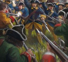 Charge of the Swedish infantry Great Northern War