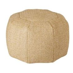 Plantation Patterns Deluxe Natural Comfort-Knit Round Outdoor Pouf 7585-01020911 at The Home Depot - Mobile