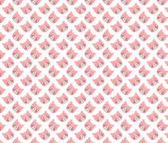cat face fabric by laura_the_drawer on Spoonflower - custom fabric