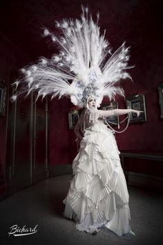 "Costume By Sara Costantini Artist miss Lada Red Star ""crystal storm"" Pics by John Paul Bichard"