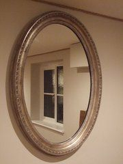 Large Oval Silver Gilt Wall Mirror C1910 Norfolk, Cambridge, Honeysuckle Cottage, Wall Mirror, Oversized Mirror, Antiques, Silver, Home Decor, Antiquities