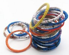 Bangles from plastic bags