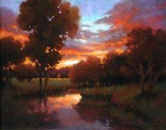 Skies Ablaze by Teresa Saia Pastel ~ 22 x 28