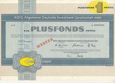ADIG Fonds Düsseldorf - Funds - Certificate - Specimen