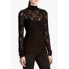 black lace turtleneck, sexy!