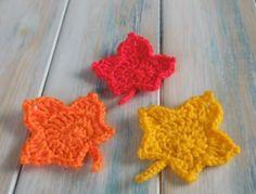 Foto: leuke gehaakte blaadjes voor de herfst! engelstalig filmpje op YouTube van HappyBerry Crochet. Geplaatst door 1xxEmmaxx1 op Welke.nl