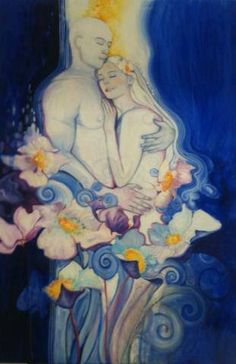 Divine couple series — Eden Art by Ines Honfi Twin Flame Love, Twin Flames, Star Goddess, Love Twins, Flame Art, Love Oil, Twin Souls, Gift From Heaven, Divine Feminine