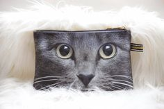 Hey, I found this really awesome Etsy listing at http://www.etsy.com/listing/169836209/grey-cat-with-light-yellow-eyes-grey-cat