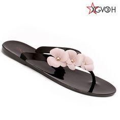 dd44c55de96a21 Summer Style Splendid Women Sandal Beach Shoes Flower Flat Heels Flip Flops  Women s Shoes Tstraps Sandals - CattleyaStore CattleyaStore