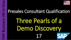 SAP - Course Free Online: 17 - Three Pearls of a Demo Discovery