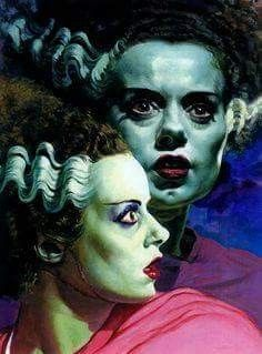 Universal Classic Monsters Art : The Bride Of Frankenstein 1954 by Basil Gogos