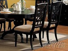 Acme Furniture Black Finish Side Chair 10022