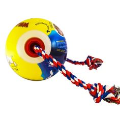 Tuggo, Mini (Tug-o-war) Adjustable Water Weighted Exercise Dog Toy 7-inch Ball with Replaceable Rope (Glow in dark) *** Learn more by visiting the image link. (This is an affiliate link) #PetDogs