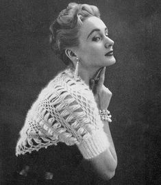 HAIRPIN LACE Crochet Pattern Vintage 50s Shrug by AdorishVintage