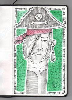 Ilustrador Alexiev Gandman: Un pirata de cuello largo en mi Libreta Brügge