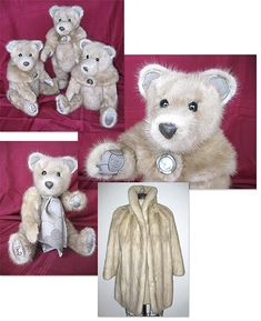 Heirloom teddy bears made from your fur coat.