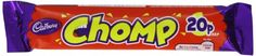 Cadbury Chocolate Chomp Bar (Pack of 60) Suitable for vegetarians. Milk chocolate with caramel centre. (Barcode EAN = 5054186591970). http://www.comparestoreprices.co.uk/december-2016-3/cadbury-chocolate-chomp-bar-pack-of-60-.asp