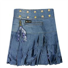 Moshiki #skirt - Spaghetti Ice Denim - Skirt length 40 cm.  » visit Pocaido Rock Shop for these #skirts by the picture-link.  #Moshiki #HotCookie #Wrapskirt #Wickelrock #Wenderock #Cacheur #Rock #clothing #fashion #moda #Mode #Style #Summer
