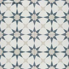 Cement Tile Shop sells beautiful Pacific Atlas III x handmade cement tile. Cement Tile Floor, Cement Walls, Cement Crafts, Cement Tile, Cement Tile Shop, Flooring, Cement Tiles Bathroom, Fireplace Tile, Tiled Hallway