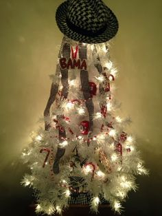 Couldn't have this anywhere but in my craft room but it's great! University of Alabama themed Christmas Tree