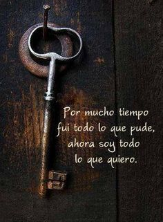Soy lo que quiero Words Quotes, Wise Words, Me Quotes, Famous Quotes, Great Quotes, Quotes To Live By, Inspirational Quotes, Smart Quotes, Mots Forts