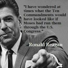 Reagan - 10 Commandments through Congress