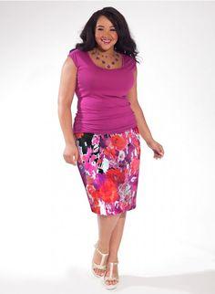 ab37d678a8c April Skirt in Caribbean Flush Plus Size Clothing Sale