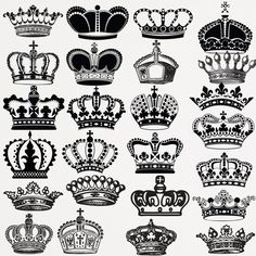 Crown Clip Art Crown Silhouette Clip Art Digital Crowns Clip Art Black Crowns  Royal Crown Clipart Scrapbook Embellishment Buy 2 Get 1 FREE