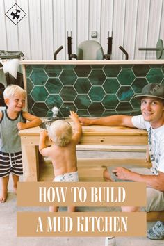 How to build a mud kitchen for your kids playground Outdoor Play Kitchen, Diy Mud Kitchen, Mud Kitchen For Kids, Outdoor Play Spaces, Kitchen Ideas, Backyard Playground, Backyard For Kids, Diy For Kids, Playground Ideas