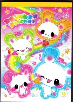 Kamio Rainbow Friends Memo Pad with Stickers Kawaii