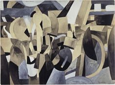Francis Picabia / New York / 1913 / Gouache, watercolor, and pencil on paper / MoMa